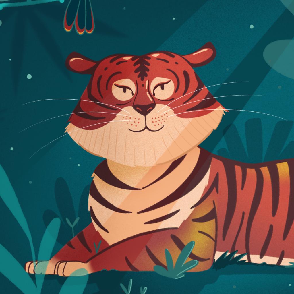 illustration tigre sumatra