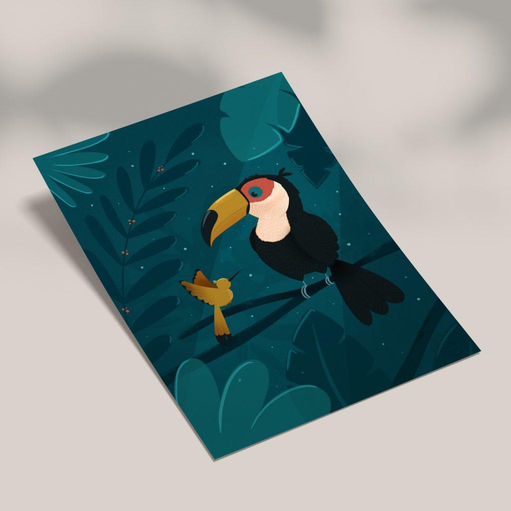 illustration affiche toucan