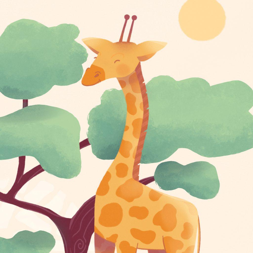 girafe illustrée