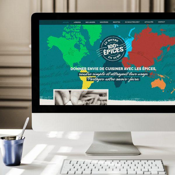 webdesign le monde en tube